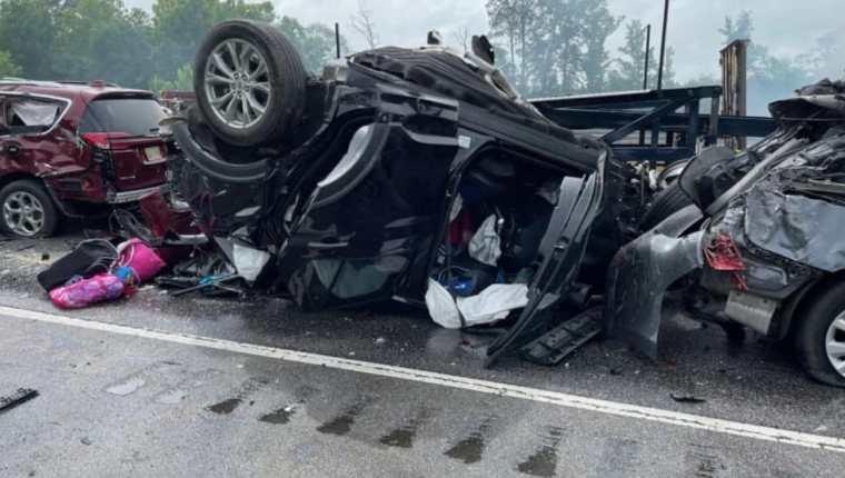 Nueve niños y un adulto murieron en un accidente de tránsito en Greenville, Alabama, Estados Unidos. (Foto Prensa Libre: Tomada de Twitter)