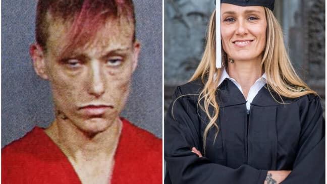 De las calles y las drogas al éxito y las aulas universitarias: El impactante antes y después de una mujer que superó las adicciones