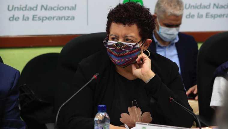 Ministra de Salud, Amelia Flores, en la citación en el Congreso. (Foto Prensa Libre: Elmer Vargas)