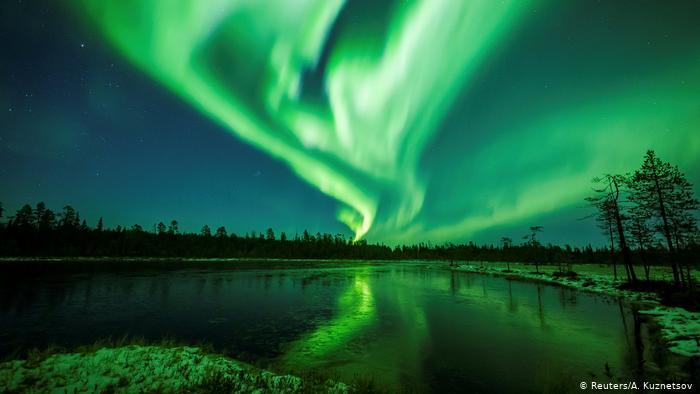 Aurora boreal en Lapland, en Finlandia. (Reuters/A. Kuznetsov)