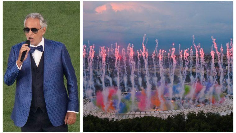 Andrea Bocelli cautivó en la inauguración de la Eurocopa. (Foto Prensa Libre: AFP)