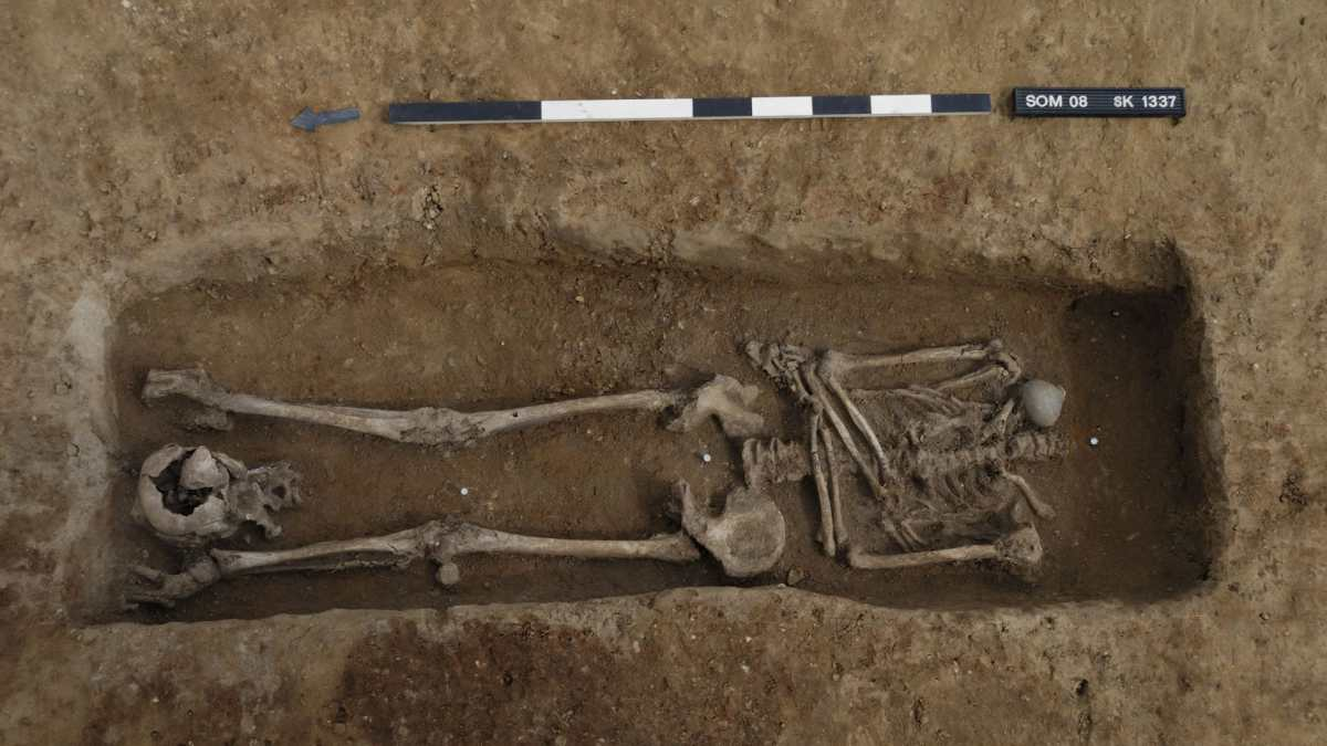 Arqueólogos encuentran 17 esqueletos decapitados en un antiguo cementerio romano