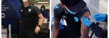 Los jugadores de la Selección de Guatemala fueron vacunados contra el covid-19 en Estados Unidos. (Fotos Prensa Libre).