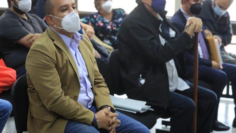Juan Francisco Solórzano Foppa, y otros implicados en el caso Política y Falsedad. (Foto Prensa Libre: Byron García)
