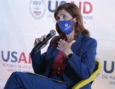 Samantha Power, administradora de Usaid, visitó Guatemala durante dos días. (Foto Prensa Libre: Esbin García)