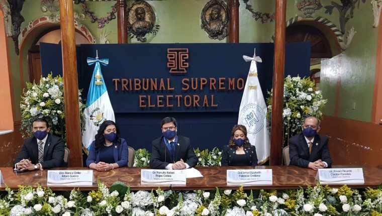 Ranulfo Rojas Cetina, será presidente del TSE durante una año. (Foto Prensa Libre: TSE)