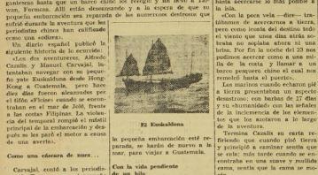 Dos aventureros en la década de 1960 que planeaban rodear el mundo en un yate.  (Foto Prensa Libre: Hemeroteca)