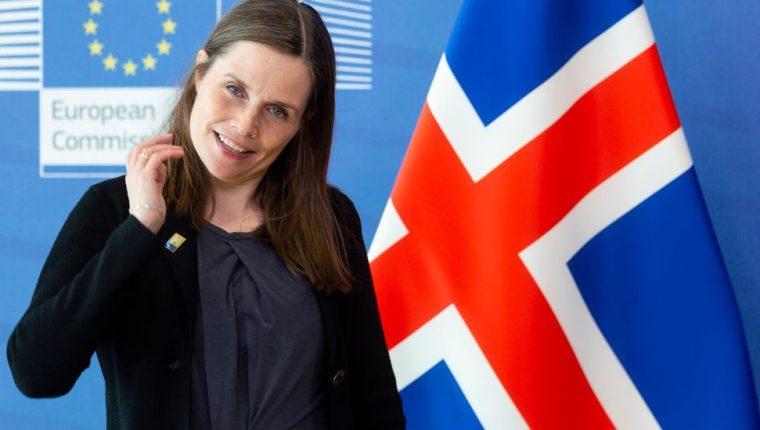 La primera ministra de Islandia, Katrin Jakobsdottir.