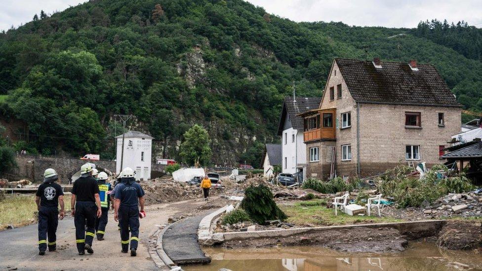 Inundaciones en Alemania: Schuld, el pueblo arrasado casi por completo tras las graves inundaciones en ese país