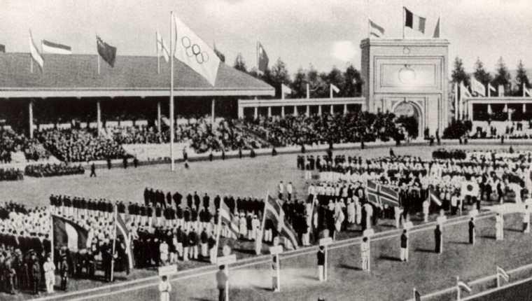 La inauguración de Amberes 1920.