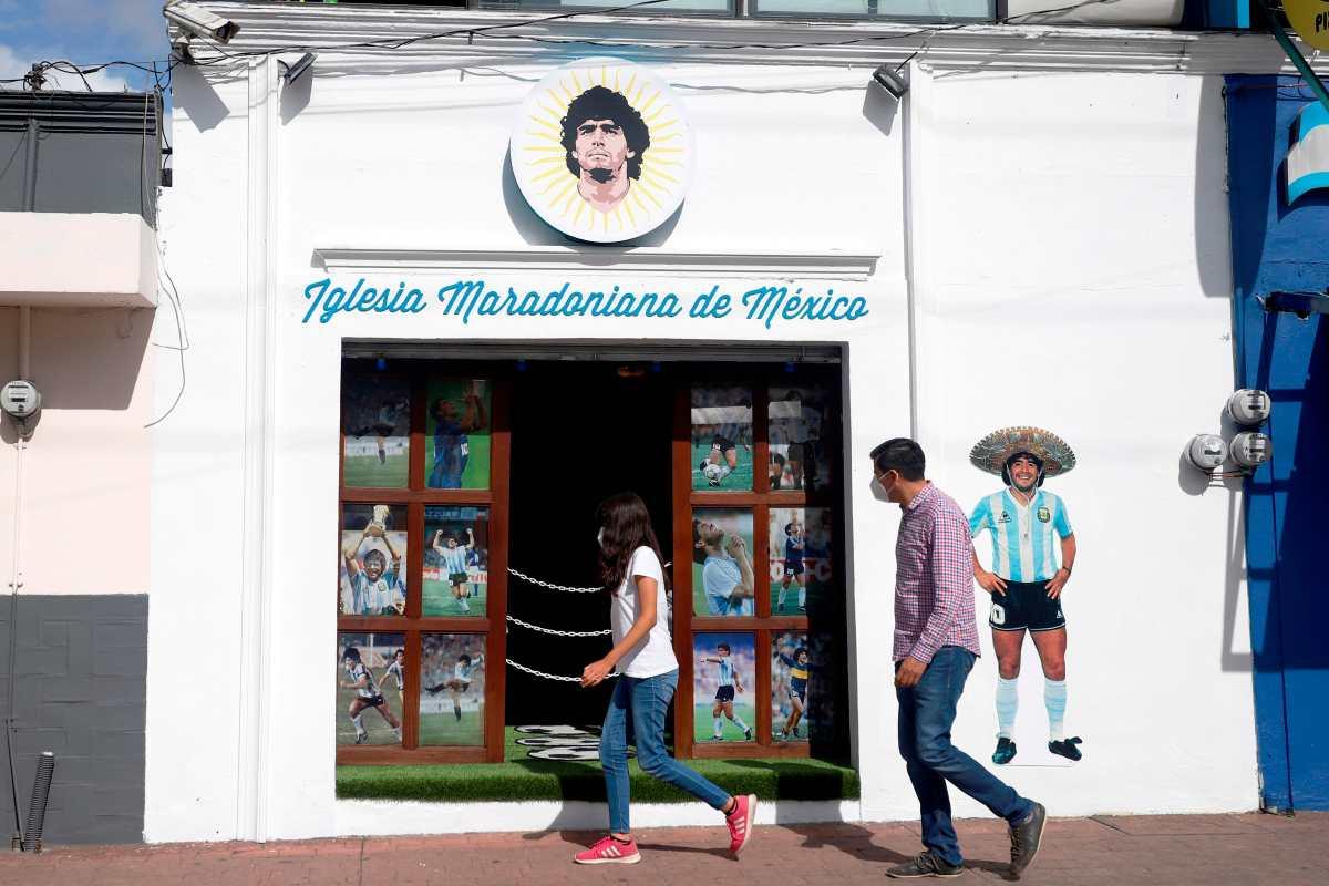Así es la primera Iglesia Maradoniana en México, que se hospeda en central estado de Puebla