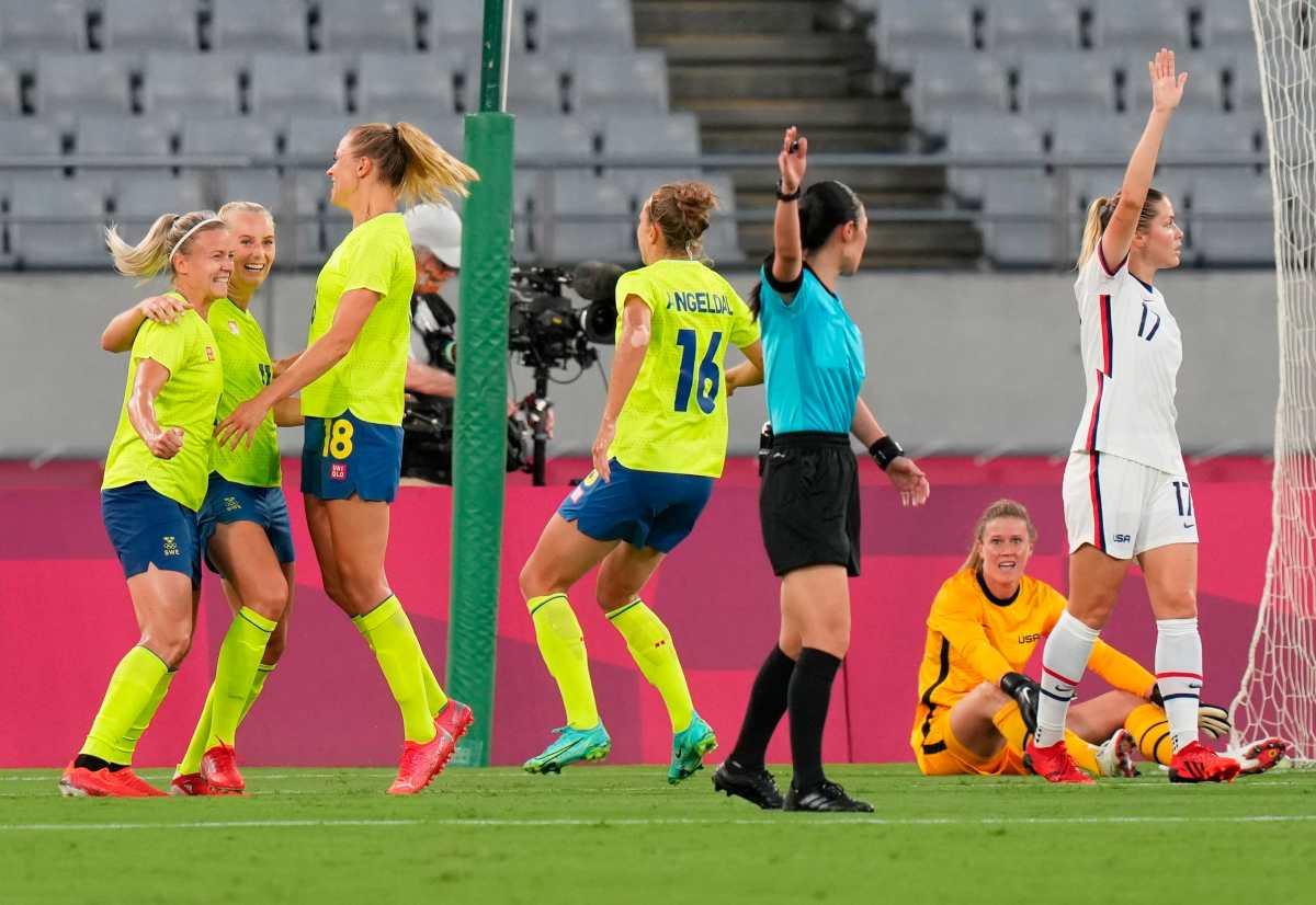Suecia da la sorpresa y golea a Estados Unidos en el debut en Tokio 2020
