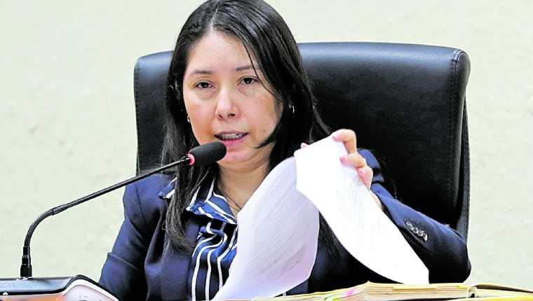 Erika Aifán, Jueza de Mayor Riesgo D (Foto Prensa Libre: Estuardo Paredes)