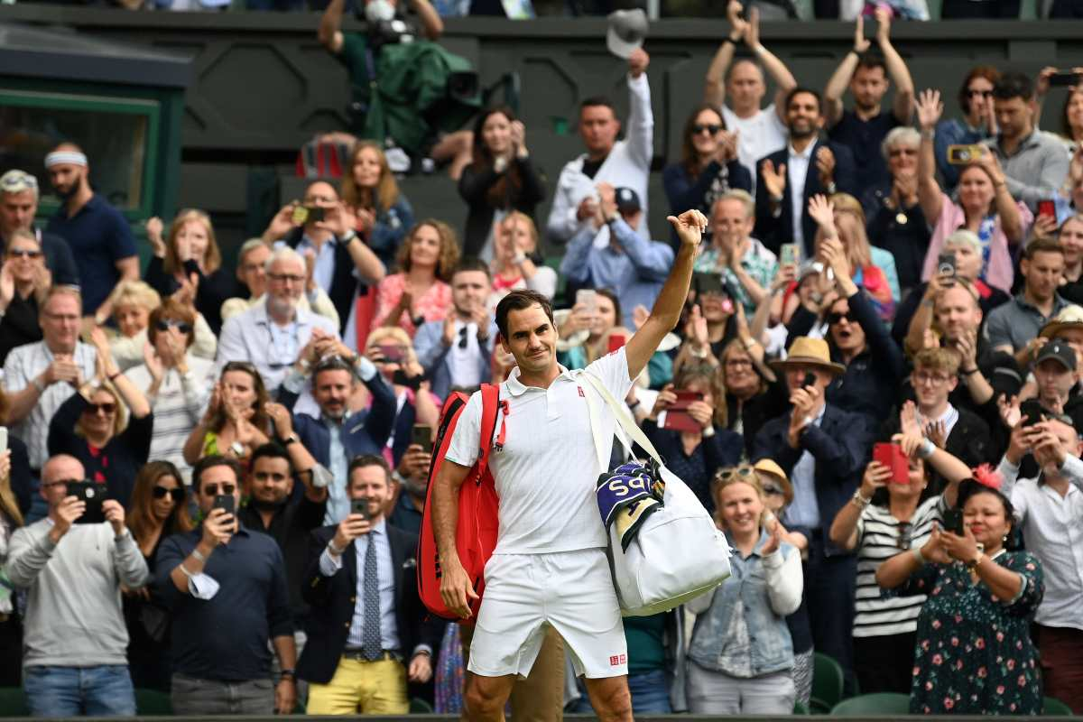 Roger Federer le dice adiós al Wimbledon