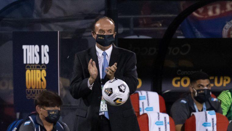 Rafael Loredo habló de sus conclusiones después del partido de Guatemala contra México por la Copa Oro 2021. (Foto Prensa Libre: AFP).