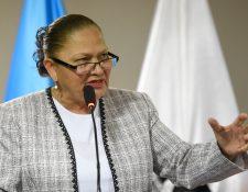 Fiscal general de Guatemala, y jefa del MInisterio Público, María Consuelo Porras. (Foto Prensa Libre: AFP)