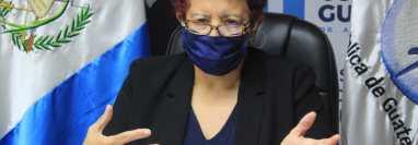 Ministra de Salud, Amelia Flores, dejará el cargo el 16 de septiembre. (Foto Prensa Libre: HemerotecaPL)