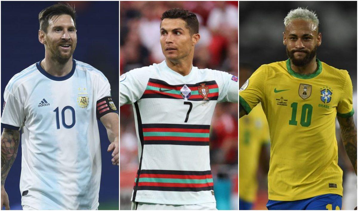 La publicación que causa furor en las redes muestra cómo lucirían CR7, Leo Messi y Neymar en el Mundial de México 86