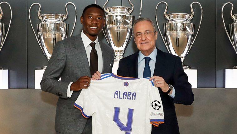 """""""Nuestro nuevo 4, David Alaba"""", escribió la cuenta oficial del club madrileño en Twitter. Foto @realmadrid"""