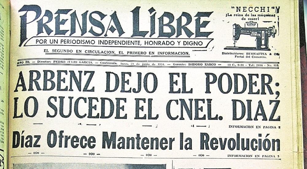 Historia de Guatemala: Triunfa PB Success y dimite Jacobo Árbenz en mazo de 1951