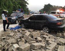 Los blocks quedaron esparcidos por todos lados. (Foto: Bomberos Voluntarios)
