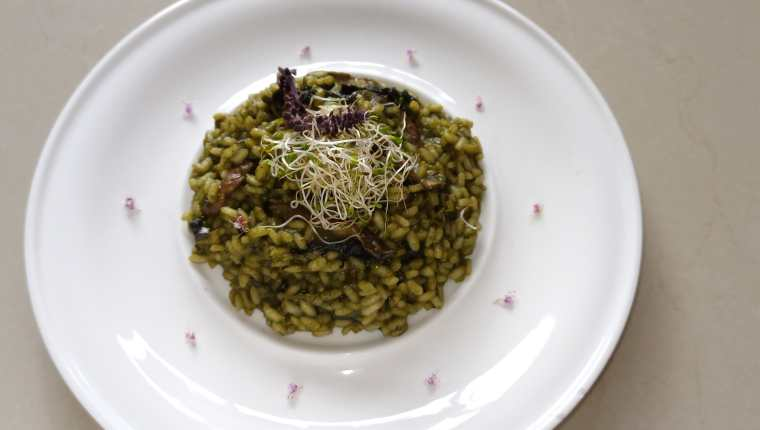 Espléndido risotto con kale