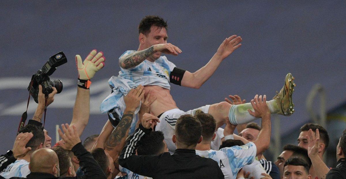 ¡Argentina es campeón de la Copa América! Y Leo Messi celebra su primer título con la Albiceleste