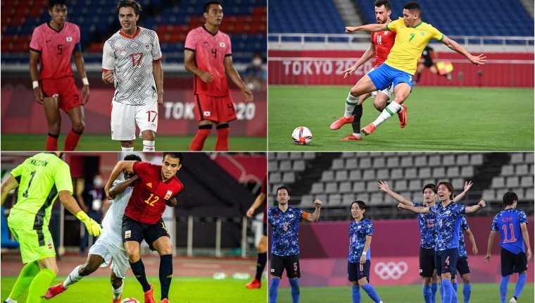 México- Brasil; y España-Japón, definirán a los finalistas del futbol olímpico en Tokio 2020. Fotos AFP.