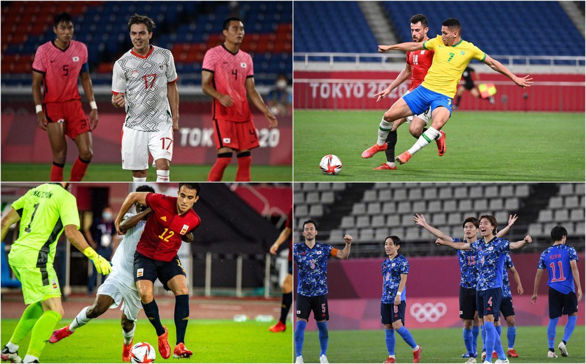 Brasil vs. México y España vs. Japón, semifinales de lujo del futbol en los Juegos Olímpicos