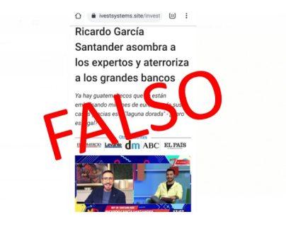 Alerta: circula información falsa sobre el presentador de Guatevisión Ricardo García Santander