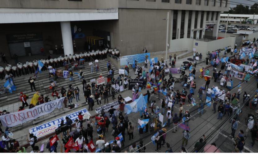 MP se pronuncia sobre manifestaciones en rechazo a gestión de fiscal general Consuelo Porras