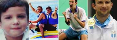 La cuenta de los Juegos Olímpicos compartió estas fotografías de Kevin Cordón en el hilo en que hace un repaso por su carrera. Foto @juegosolimpicos