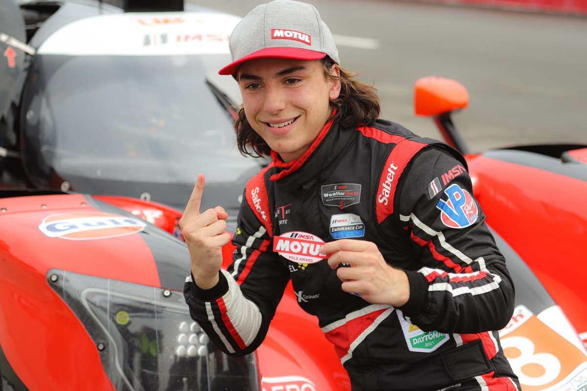 Mateo Llarena se confirma como el piloto más joven en ganar una Pole Position en la IMSA