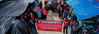 Las manifestaciones de los trabajadores de Salud de Sololá se iniciaron desde el 22 de junio (Foto Prensa Libre: Hemeroteca PL)