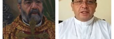 El español José Cayetano Parra Novo fue nombrado obispo de la diócesis de Santa Rosa de Lima, Santa Rosa; y, el guatemalteco Domingo Buezo Leiva, obispo de la diócesis de Sololá-Chimaltenango. (Foto Prensa Libre: Cortesía)