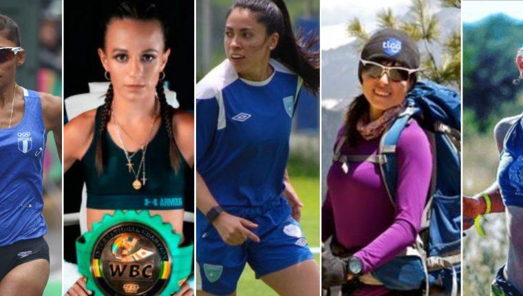 Mirna Ortiz, María Micheo, Ana Martínez, Andrea Cardona y Michelle Echeverría son cinco deportistas incluidas en la lista Robes de las 100 mujeres más poderosas. Foto Prensa Libre: Hemeroteca PL.