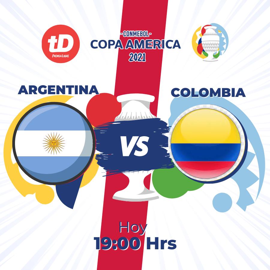 Estadísticas del juego entre Argentina vs. Colombia