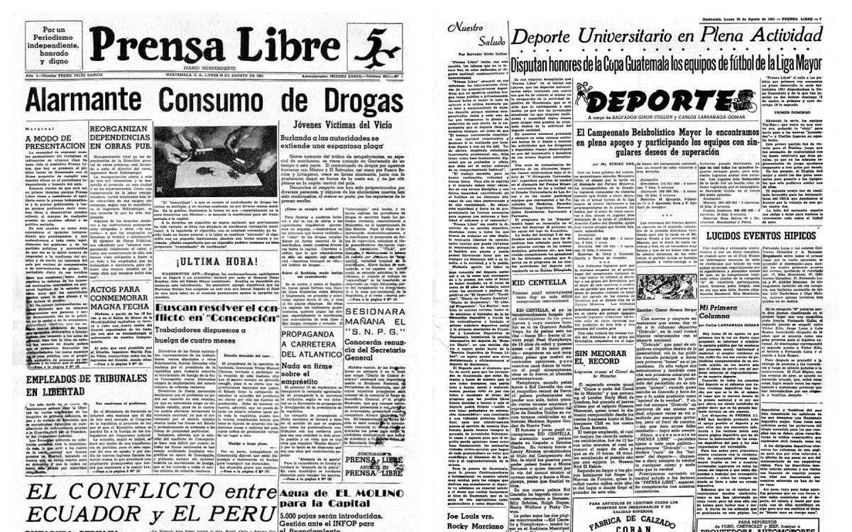 Historia de Guatemala: Nace Prensa Libre en agosto de 1951
