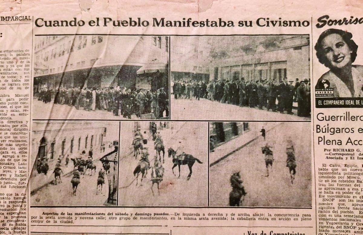 Historia de Guatemala: Represión precipita renuncia de dictador en 1944
