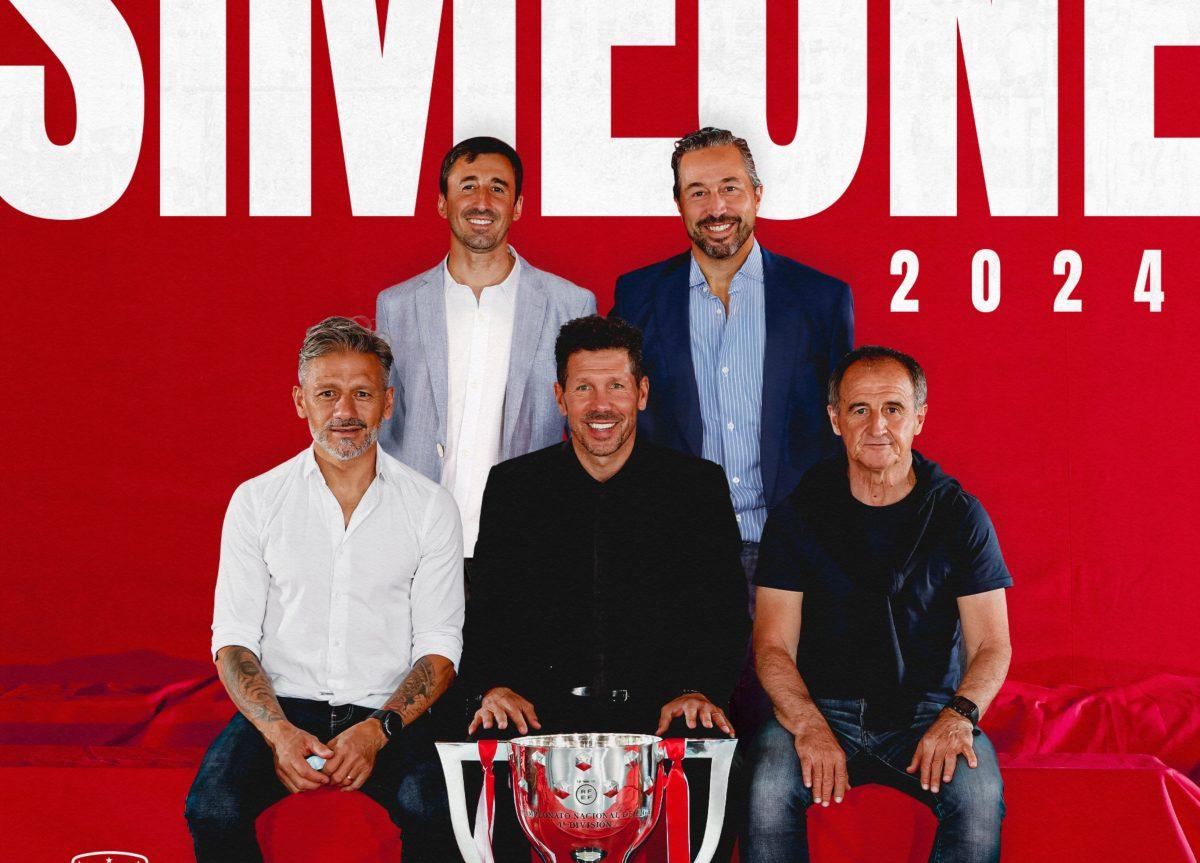 Diego Pablo Simeone seguirá al frente del Atlético de Madrid hasta el 2024