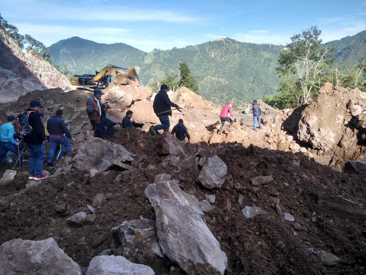 Terminan trabajos por derrumbe en Tajumulco: una persona está desaparecida
