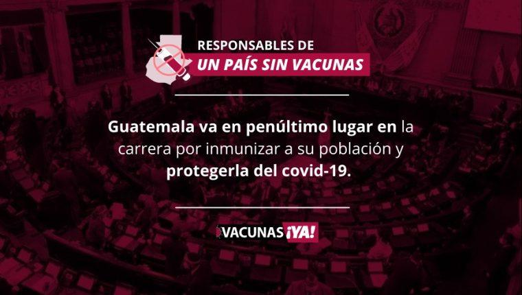 Han pasado 170 días desde que se aprobó el Plan Nacional de Vacunación y el país no tiene certeza de cuándo vendrán al país los 8 millones de vacunas ya pagadas a Rusia. (Foto Prensa Libre)