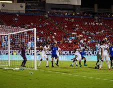 Gerardo Gordillo marcó el gol del empate de Guatemala frente a Trinidad y Tobago. (Foto Fedefut).