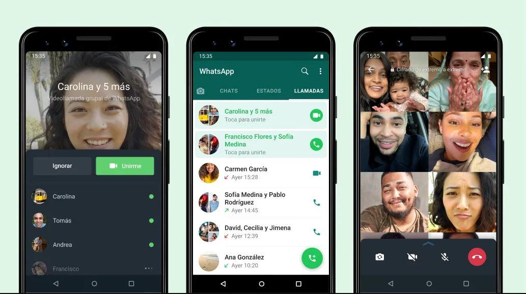 WhatsApp ya permite unirse a videollamadas en curso en cualquier momento