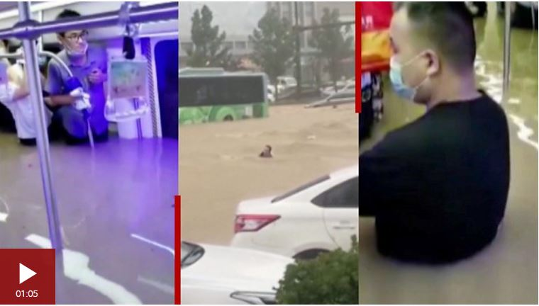 Inundaciones en China: los dramáticos videos que muestran el impacto de las lluvias torrenciales