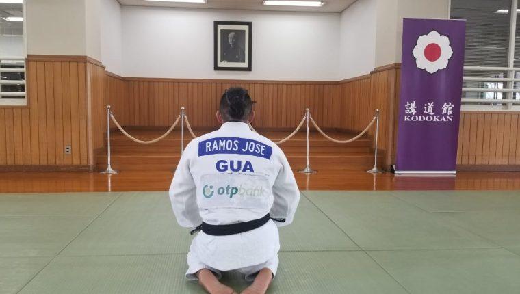 José Ramos durante el entrenamiento en el Instituto Kodokan, en Tokio, Japón. (Foto COG).