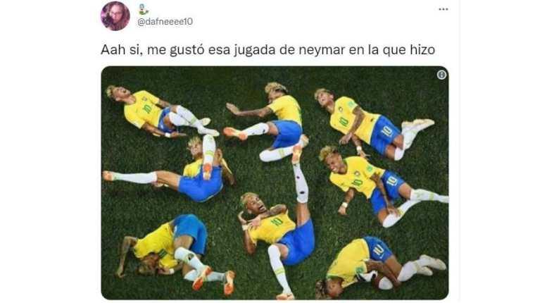 Neymar fue tendencia durante la final de la Copa América, pero no por sus buenas jugadas... (Foto Prensa Libre: Twitter)