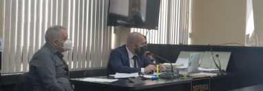 Rafael Mayén Guzmán, en una audiencia en el Juzgado de Mayor Riesgo D. (Foto Prensa Libre: HemerotecaPL)