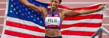 Felix es la mujer que más medallas ha ganado sobre la pista en la historia olímpica.