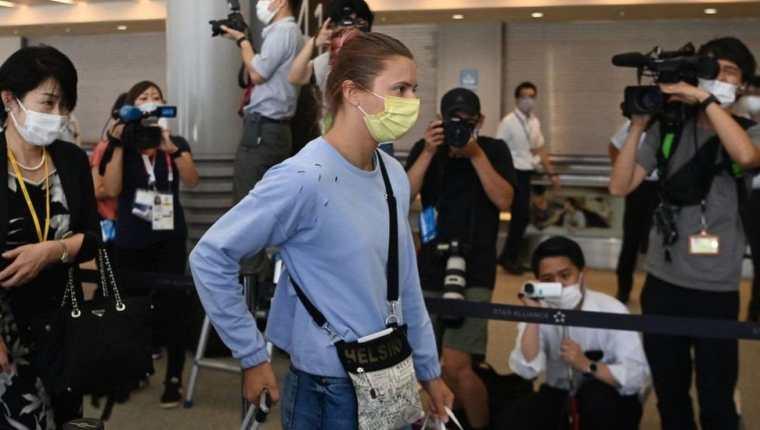 Timanovskaya llegó a Polonia con una visa humanitaria.AFP